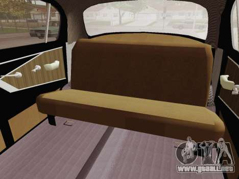 GAZ 21 de Limusinas para visión interna GTA San Andreas