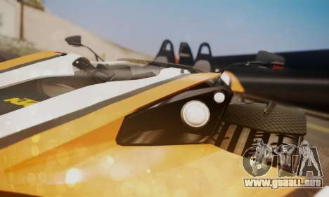 KTM X-Bow R 2011 para GTA San Andreas vista hacia atrás
