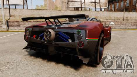 Pagani Zonda Tricolore para GTA 4 Vista posterior izquierda