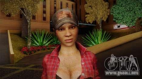 Misty from Call of Duty: Black Ops para GTA San Andreas tercera pantalla