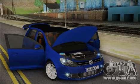 Volkswagen Golf Mk6 2010 para la visión correcta GTA San Andreas