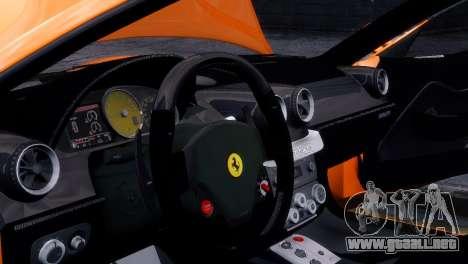 Ferrari 575 GTC para GTA 4 vista hacia atrás