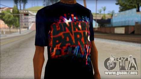 Linkin Park T-Shirt para GTA San Andreas tercera pantalla