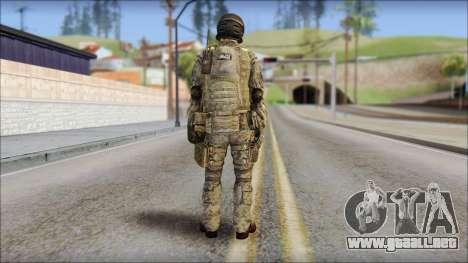 Forest SFOD from Soldier Front 2 para GTA San Andreas segunda pantalla