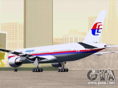 Boeing 777-2H6ER Malaysia Airlines para el motor de GTA San Andreas