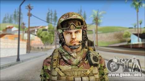 Forest SAS from Soldier Front 2 para GTA San Andreas tercera pantalla