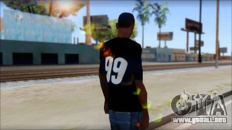 Fictional Carl Edwards T-Shirt para GTA San Andreas segunda pantalla