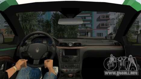 Maserati Granturismo Police para GTA Vice City vista lateral izquierdo