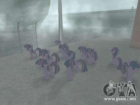 Twilight Sparkle para GTA San Andreas sexta pantalla