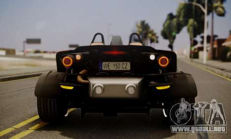 KTM X-Bow R 2011 para vista inferior GTA San Andreas