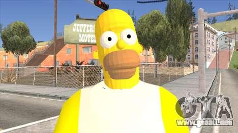Homer Simpson Skin para GTA San Andreas tercera pantalla