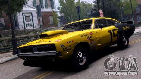 Dodge Charger RT 1969 EPM para GTA 4 vista hacia atrás