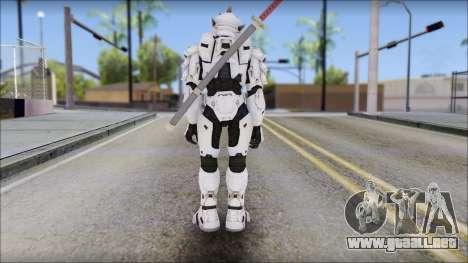 Halo 3 Hayabusa Armor para GTA San Andreas segunda pantalla