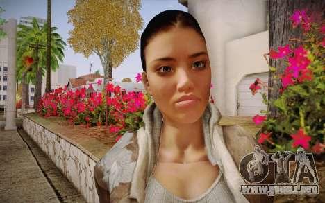 Alyx Vance CM (Adriana Lima) v.1.0 para GTA San Andreas tercera pantalla