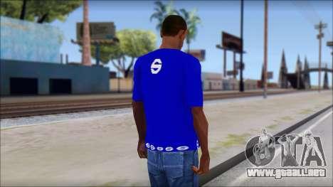 Sparco T-Shirt para GTA San Andreas segunda pantalla