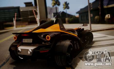 KTM X-Bow R 2011 para GTA San Andreas vista posterior izquierda