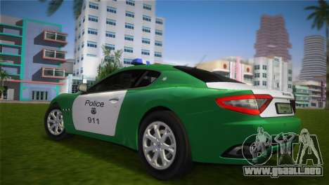 Maserati Granturismo Police para GTA Vice City left
