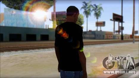 E Logo T-Shirt para GTA San Andreas segunda pantalla
