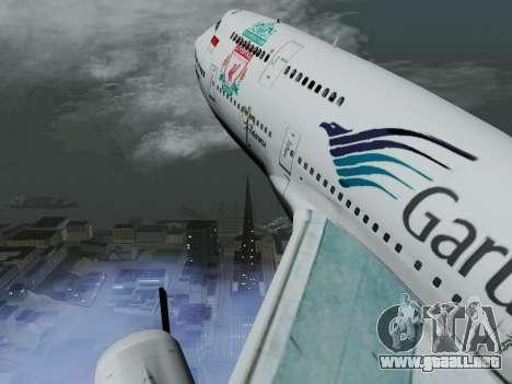 Boeing 747-400 Garuda Indonesia para visión interna GTA San Andreas