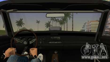 Dodge Charger RT Street Drag 1969 para GTA Vice City vista lateral izquierdo