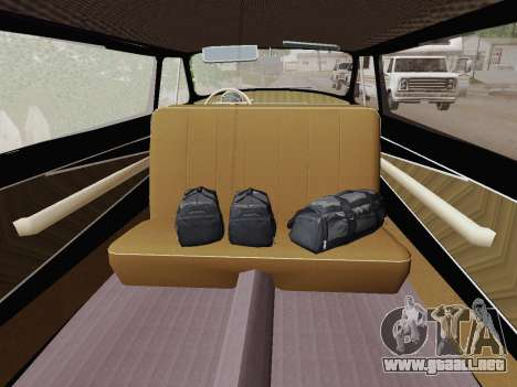 GAZ 21 de Limusinas para GTA San Andreas vista hacia atrás