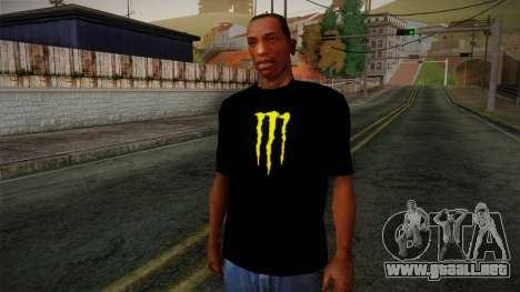 Monster Ripper Shirt Black para GTA San Andreas