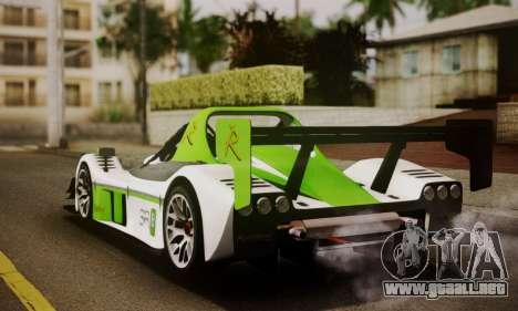 Radical SR8 Supersport 2010 para GTA San Andreas left
