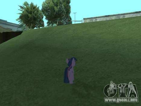 Twilight Sparkle para GTA San Andreas séptima pantalla