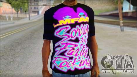 LMAFAO T-Shirt para GTA San Andreas tercera pantalla