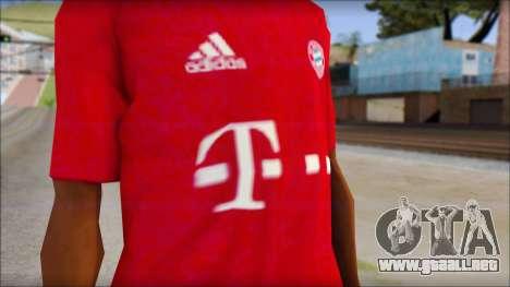 El Bayern De Munich 2013 T-Shirt para GTA San Andreas tercera pantalla
