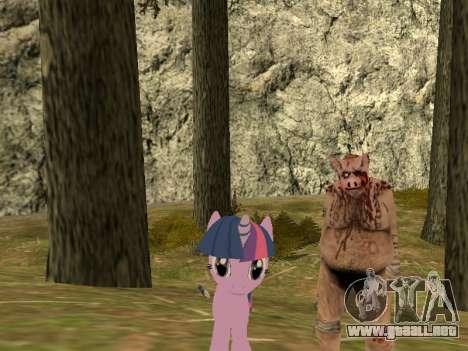 Twilight Sparkle para GTA San Andreas segunda pantalla