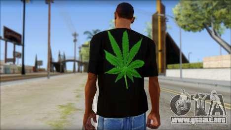 Bob Marley T-Shirt para GTA San Andreas segunda pantalla