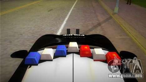 Porsche Carrera GT Police para GTA Vice City vista lateral izquierdo