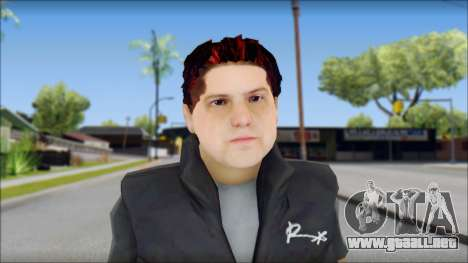 Paul from Good Charlotte para GTA San Andreas tercera pantalla