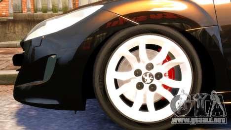 Peugeot RCZ para GTA 4 visión correcta