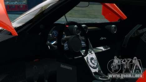 Koenigsegg Agera R 2013 para GTA 4 vista superior
