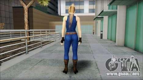 Sarah from Dead or Alive 5 v2 para GTA San Andreas segunda pantalla