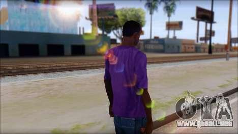 Dropdead T-Shirt para GTA San Andreas segunda pantalla