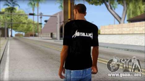 Metallica T-Shirt para GTA San Andreas segunda pantalla