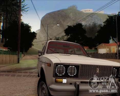 VAZ 2106 Sintonizable para GTA San Andreas vista hacia atrás