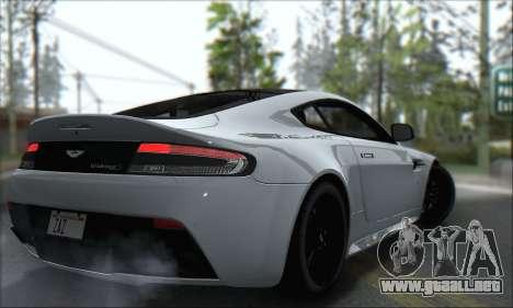Aston Martin V12 Vantage S 2013 para GTA San Andreas vista hacia atrás