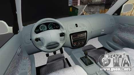 Daewoo Nubira I Sedan CDX PL 1997 para GTA 4 vista hacia atrás