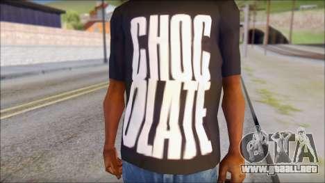 Chocolate T-Shirt para GTA San Andreas tercera pantalla