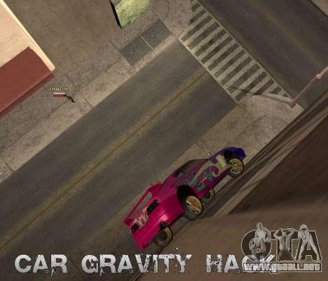 Car Grav Hack para GTA San Andreas segunda pantalla