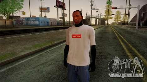 Supreme T-Shirt para GTA San Andreas