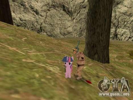 Twilight Sparkle para GTA San Andreas tercera pantalla