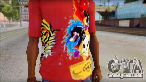 Ed Hardy Designer T-Shirt para GTA San Andreas tercera pantalla