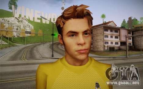 James T. Kirk From Star Trek para GTA San Andreas tercera pantalla