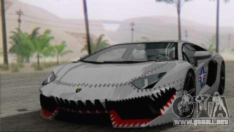 Lamborghini Aventador LP700-4 2012 para vista inferior GTA San Andreas