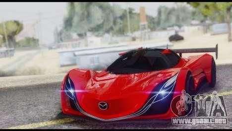 Mazda Furai 2008 para la vista superior GTA San Andreas